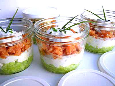 recettes verrines saumon concombre. Black Bedroom Furniture Sets. Home Design Ideas