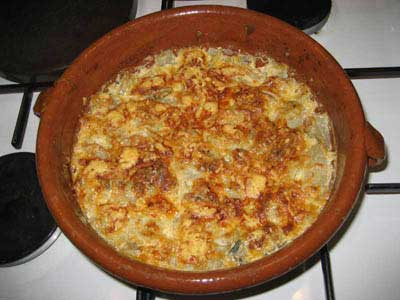 Photo gratin blettes roquefort